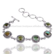 Designer Bracelet Turquoise Gemstone 925 Silver Bracelet Wholesale Jewelry From India