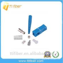 Conector de fibra ótica SC / UPC para cabo de remendo de fibra 0,9, 2,0,3,0 mm