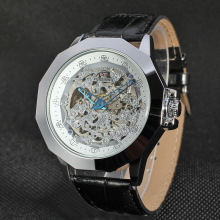 Mineral glass Stainless steel mens wrist watch
