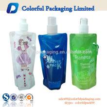 BPA Free Stand Up Tülle für Wasser / Getränke / Saft Verpackung mit Kappe und Haken