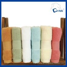 Toalha de cor sólida de algodão puro (QHF9901)