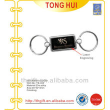 Customized Laser engraving metal keyrings for famous brands