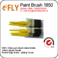 china yellow plastic handle paint brush