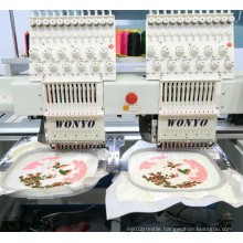 Maquina De Bordar 2 Head 15 Colors High Speed Computerized Cap Embroidery Machine