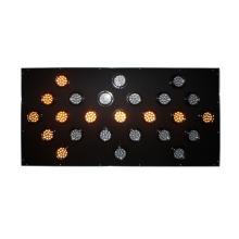 Aluminio 100mm lámpara de tráfico led lámparas de tablero de flecha