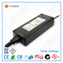 universal pse adapter 120w 15v power supply with ul cul ce rohs fcc kc
