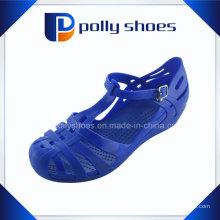 Оптовые полые дышащий синий Последние сандалии Дамы