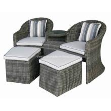 Set de sillas de jardín al aire libre de la Rota mimbre Patio brazo Causal