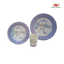 Disposable Christmas Paper Tableware Set