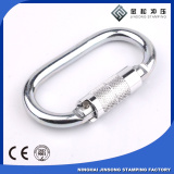 High load bearing professional rock climbing safety Self-Locking steel carabiner
