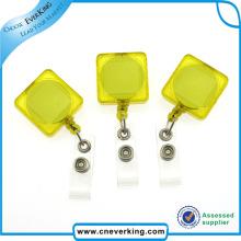 Transparent Square Shape Retractable Pull Reel