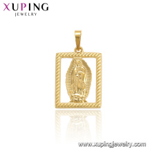 33726 xuping fashion jewelry 24k gold plated religious pendant