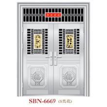 Puerta de acero inoxidable para sol exterior (SBN-6669)