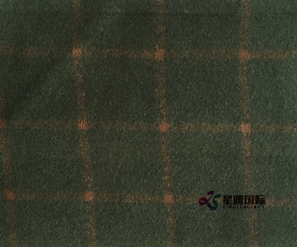 Check Wool Blend Fabric For Overcoat