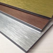 Panneau composé de 3 / 4mm alucobond conception en aluminium et feuille d'acp avec le prix concurrentiel