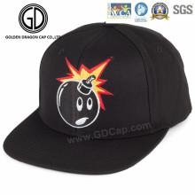 Neuer Entwurfs-Baumwollflache Baseball-Hysteresen-Kappe mit lustiger Stickerei