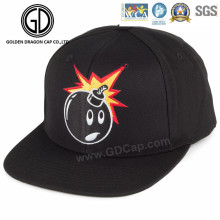 New Design Cotton Flat Baseball Snapback Cap with Funny Embroidery