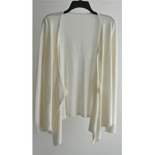 100% algodão de manga comprida Open Pure Color Cardigan Mulheres Knit