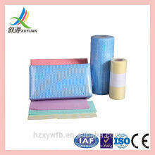 Toalhetes não tecidos coloridos dos panos de limpeza do spunlace do uso da cozinha