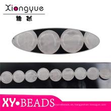 Blanco cristal Semi perlas de piedras preciosas por mayor