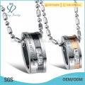 Выгравированный титан с кристальным подвесным ожерельем для любовника