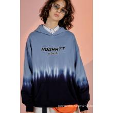 Hooded men's sweater hanging dye gradient men's sportswear