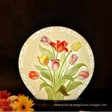 Blumendiagramm Innenschattenlampe, Keramik Schirmlampe für Hotel