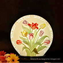Lámpara de sombra interior de diagrama floral, lámpara de sombra de cerámica para hotel