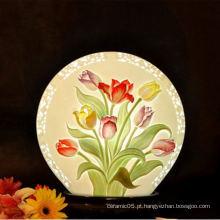 Diagrama floral lâmpada de sombra interior, lâmpada de sombra cerâmica para hotel