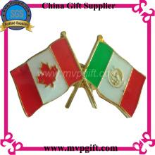 Insigne de drapeau en métal avec couleur émaillée