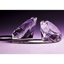 Beau diamant en cristal violet pour le cadeau de mariage