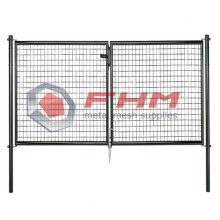 Double Garden Fence Gate Welded Wire Mesh
