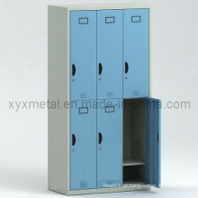 Six Doors Steel Structure Knock Dwon Metal Storage Locker