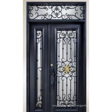 Puerta de hierro forjado de seguridad estándar estadounidense de buen precio