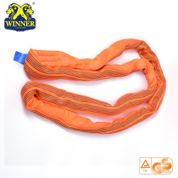 Polyester WLL 10 Ton Lifting Polyester Round Webbing Sling