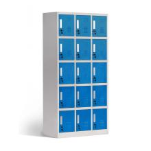 Petit Cube en métal 15 portes casier de rangement de vêtements