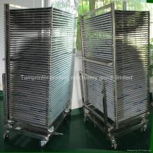 TM-50ds SUS304 séchage Rack chariot pour les produits d'impression écran
