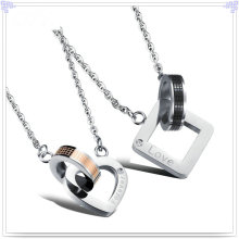 Colar de pingente de moda de jóias de aço inoxidável amantes (nk204)
