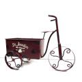 Практический металлический трицикл Сад Цветочный горшок с надписью с надписью