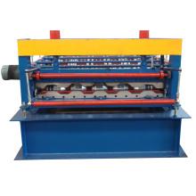 Kundengebundene Frachtbehälterbrettauto-Plattenfarbe krümmte Dachplatten Fliesenformteil-Abstellgleisrolle, die Maschine bildet