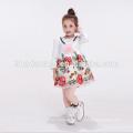 diseños de vestido de bebé flor blanca infantil vestido de niña Vestido de niña florista de manga larga con manga larga