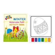 peinture aquarelle oeuf de Pâques imprimable livre de coloriage