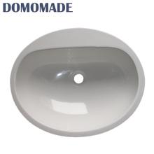 Pequeno tamanho acrílico rodada sanitários ware wc lavatórios bacia de pedra lavar pia