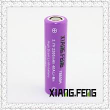 3.7V Xiangfeng 18650 2200mAh 40A Imr Batteries au lithium rechargeables à pile au lithium