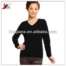100% cashmere knitting women's jersey sweater