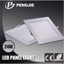 Luz de panel blanca cuadrada de 24W LED para interior con CE