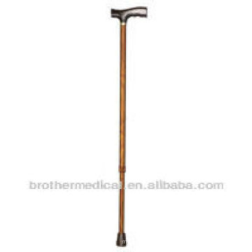 Non-folding aluminum adjustable cane