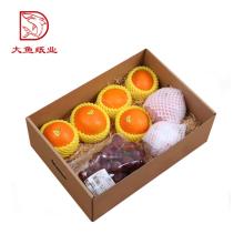 Différents types jetables carton orange boîte-cadeau pour l'expédition