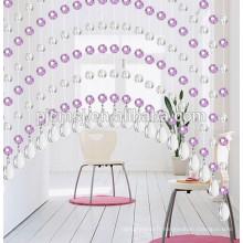 Rideau en perles de cristal rose suspendus cristal en forme de larme pour les portes décoration écologique 2015