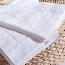 Housse de coussin 100% coton à rayures égyptiennes